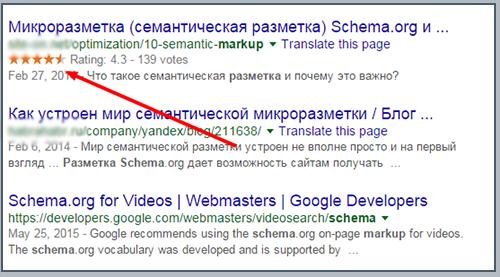 разметка шема Google Search